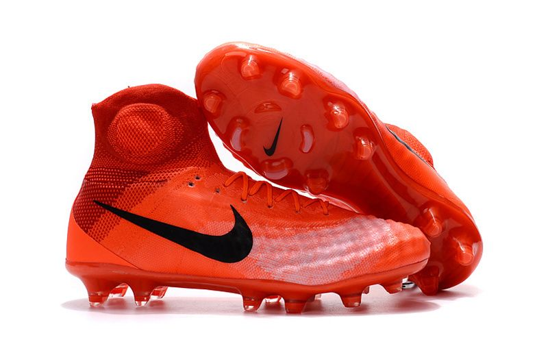 Nike Magista Obra II FG Red Black Flyknit With ACC Football Boots