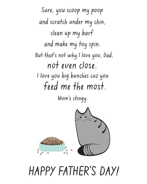 Cat fathers day card by nomadprintables must cats cat fathers day card cat dad card funny happy by nomadprintables sciox Gallery
