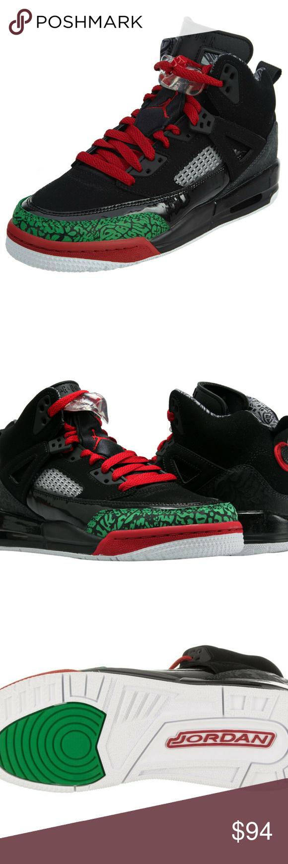 Nike Big Kid/'s Jordan Spizike OG Shoe NEW AUTHENTIC Black//Green//Red 317321-026