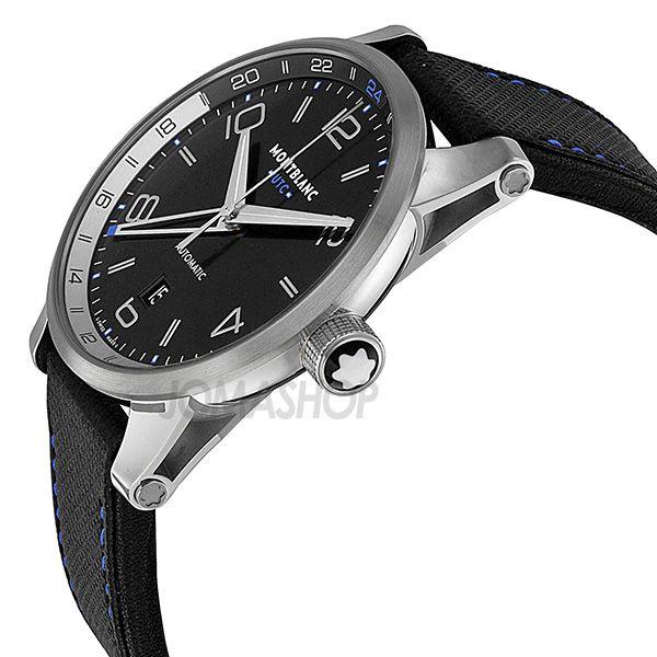 23b342a4f Montblanc TimeWalker Voyager UTC Black Dial Black Leather Mens Watch 109334 Montblanc  TimeWalker Voyager UTC Black