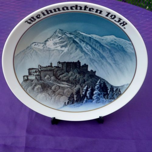1938-Rosenthal-Weihnachten-plate-Christmas-Annual-Christmas-in-the-Alps-2