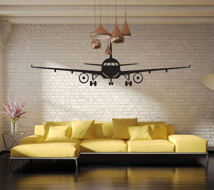 3d Airplane Art Poster Wall Stickers Civil Aircraft Interior