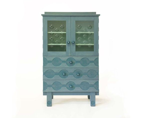 Cupboard with glass in the doors by SandraCatsburg on Etsy, €2375.00