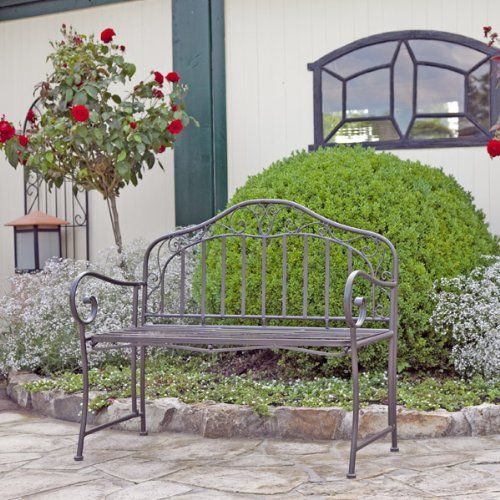 gartenbank eisen metallbank bank metall 2 sitzer 110cm neu my garden gartenb nke g nstig. Black Bedroom Furniture Sets. Home Design Ideas