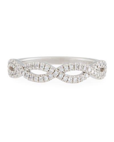 Diana M. Jewels 18k Crisscross Diamond Cuff 8iLbTuB