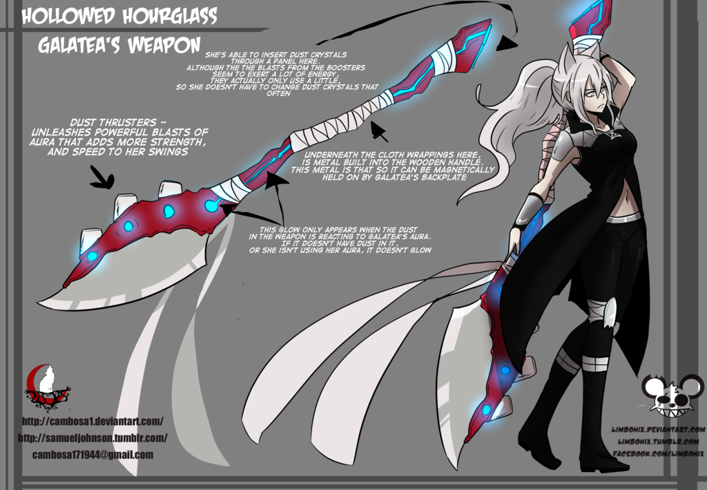 RWBY OC: Team GRAY - Hollowed Hourglass by Cambosa1