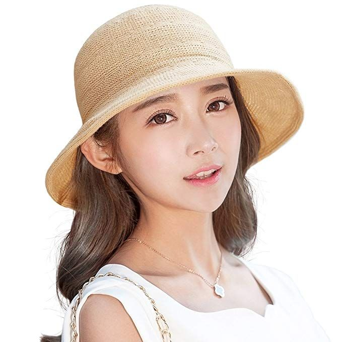 82482b65942fc SIGGI Womens UPF Packable Straw Sun Hat Wide Brim Summer Breathable 56-59CM  Review