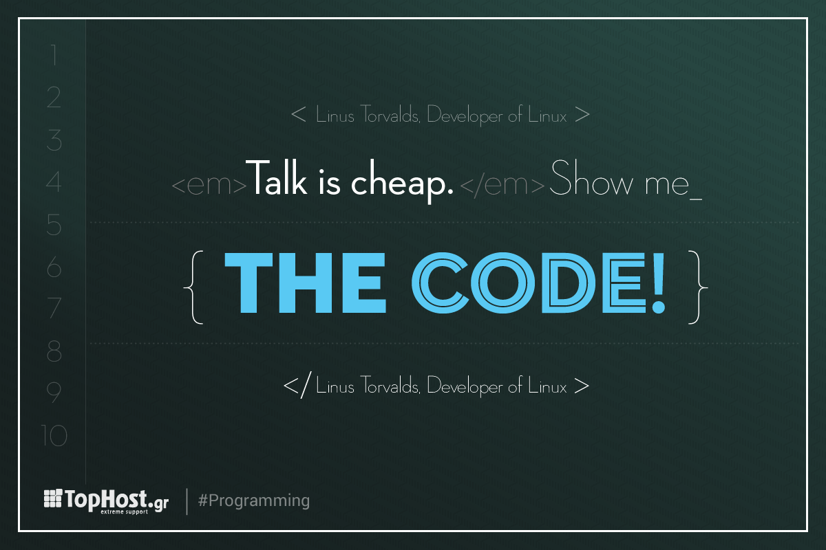 Talk is cheap. Show me the code! Linus Torvalds