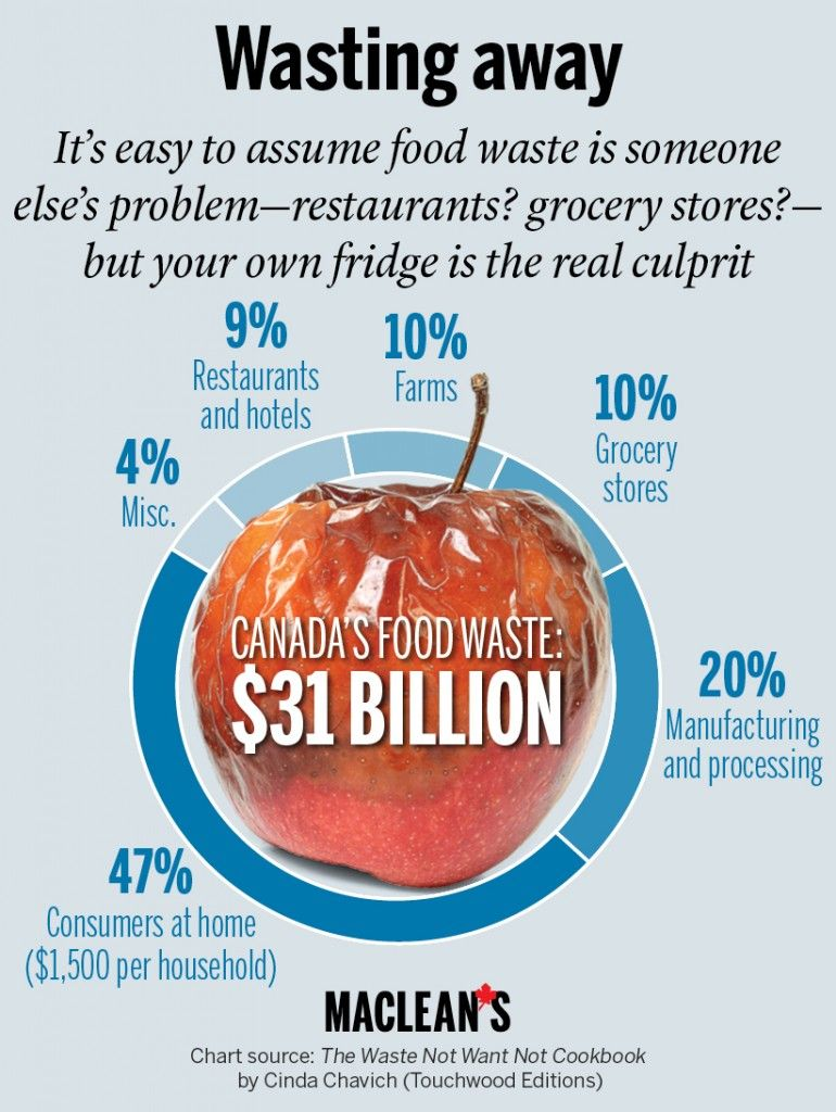 Image result for How Bad is the Food Waste Problem in Canada