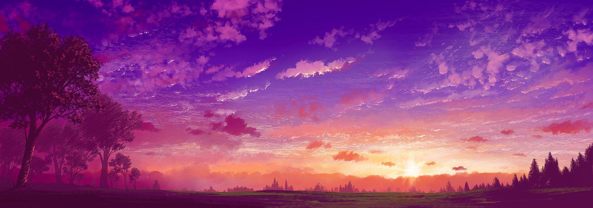 animeartworkcloudslandscapessunset17415992000x704