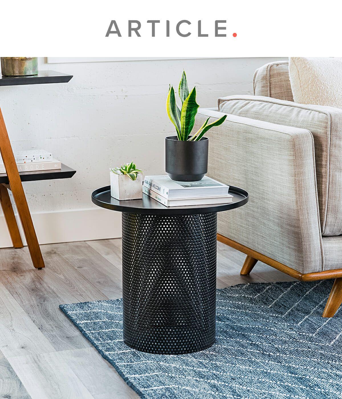 Equa Black Side Table In 2021 Living Room Decor Cozy Black Side Table Table