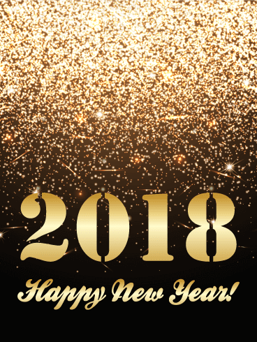 Delightful Golden Glitter Happy New Year Card 2018: Thereu0027s No Such Thing As Too Much  Glitter, Especially On New Yearu0027s Eve! Want To Help Someone Close To You  Ring In ...