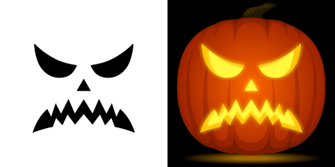 pumpkin template angry  Pin by Muse Printables on Pumpkin Carving Stencils in 5 ...