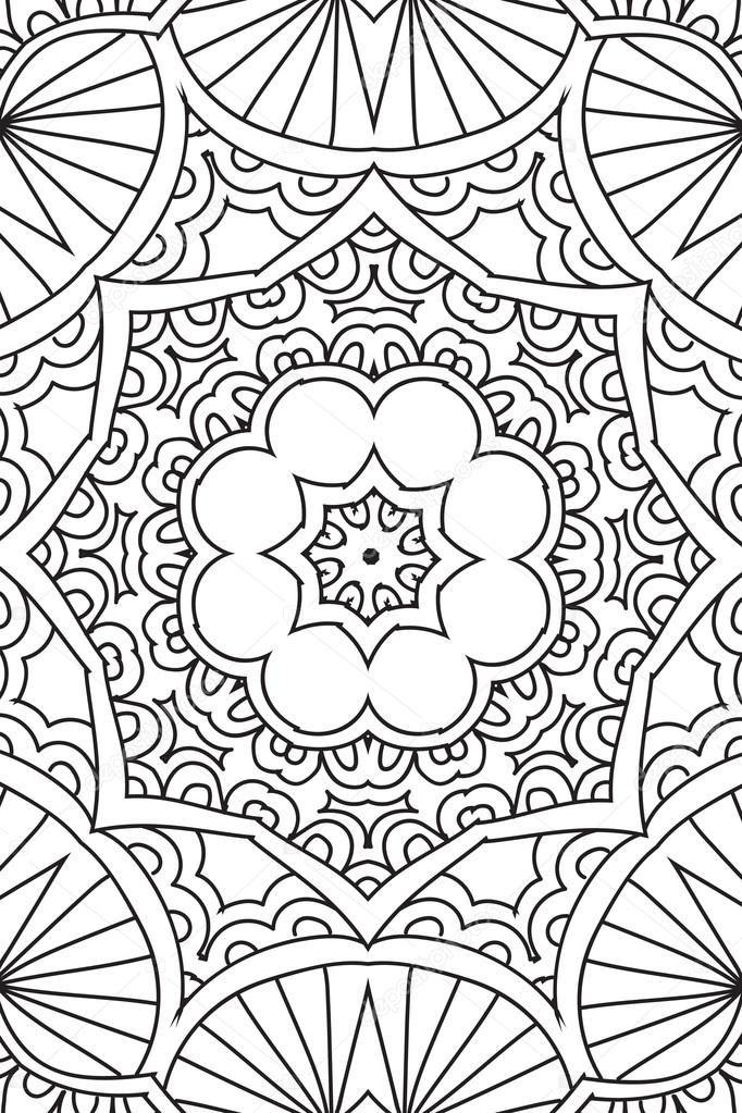Fondo de Mandala. Elementos decorativos étnicos. Dibujado