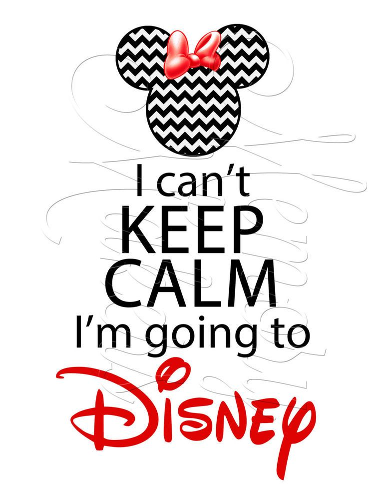 Going To Disney: DIGITAL Iron-on Transfer I Can't KEEP CALM I'm Going To