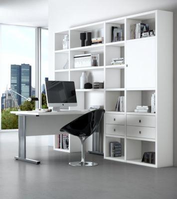Regal mit Schreibtisch weiss Jetzt bestellen unter   moebel - designer mobel bucherregal