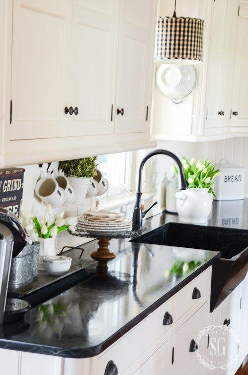 spring farmhouse kitchen details best kitchen countertops kitchen kitchen countertops on farmhouse kitchen granite countertops id=98458