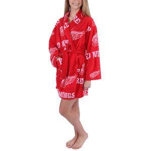 Women's Detroit Red Wings Red Ramble Microfleece Robe