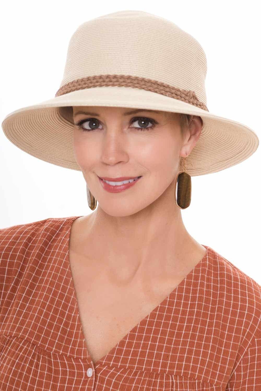 3655f6abed990 Tatum Triple Braid Sun Hat. This full head coverage sun hat is super  stylish!