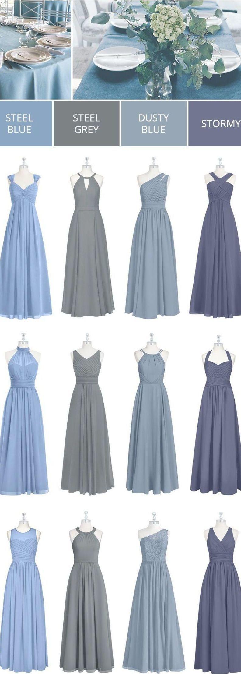 Blue Bridesmaid Dresses In Color Mix Matches Dusty Blue Stormy Steel Gre Bridesmaid Dresses Long Blue Steel Blue Bridesmaid Dresses Blue Bridesmaid Dresses [ 2213 x 792 Pixel ]
