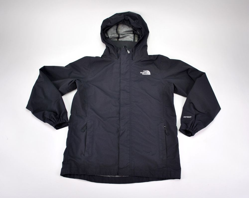 The North Face HyVent Black Hooded Lightweight Rain Jacket Coat Girls Large.  #TheNorthFace #