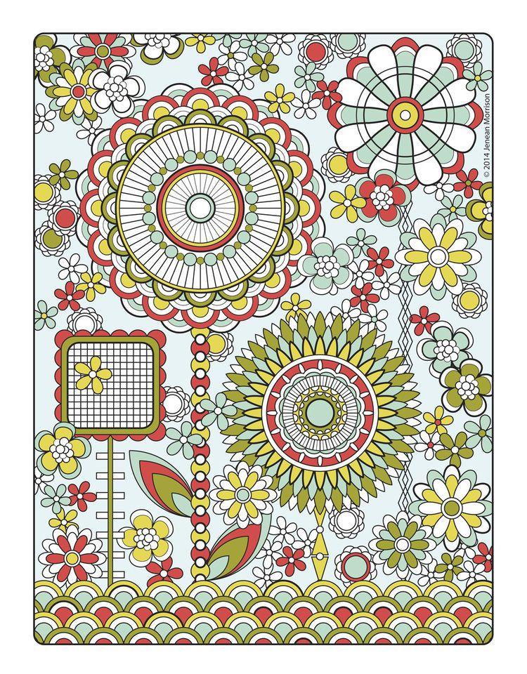 Flower Designs Coloring Book Designs Coloring Books Coloring Book Art Coloring Books
