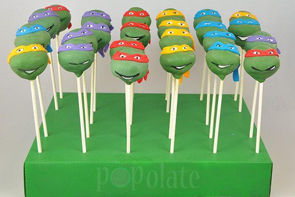 Teenage Mutant Ninja Turtles Cake Pops Ninja Turtle Cake Ninja Turtle Cake Pops Teenage Mutant Ninja Turtle Cake