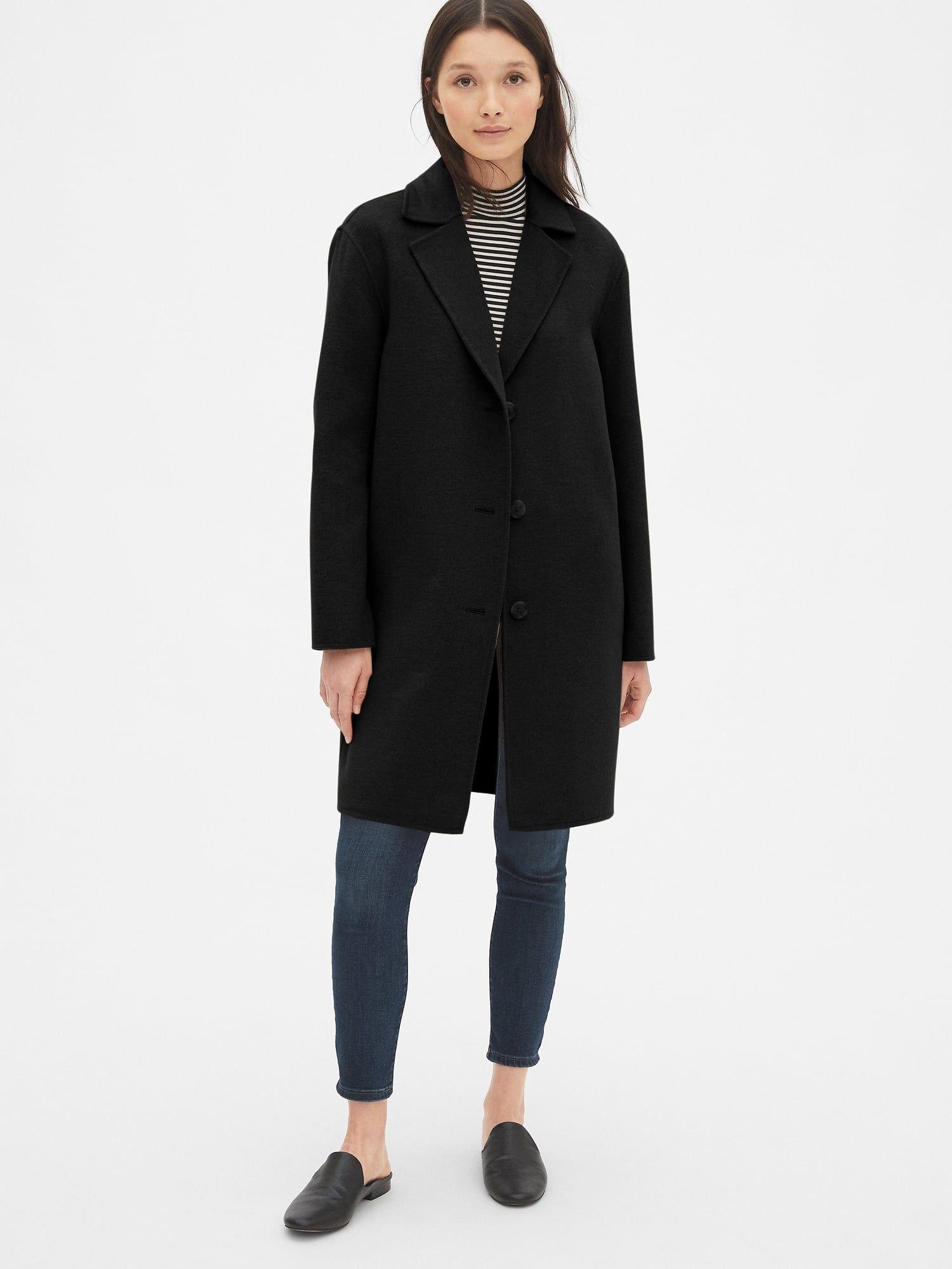 Gap Double Face Wool Blend Coat Car Coat Coat Wool Blend Coat [ 2000 x 1500 Pixel ]
