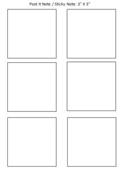 post it note sticky note printing template freebie school