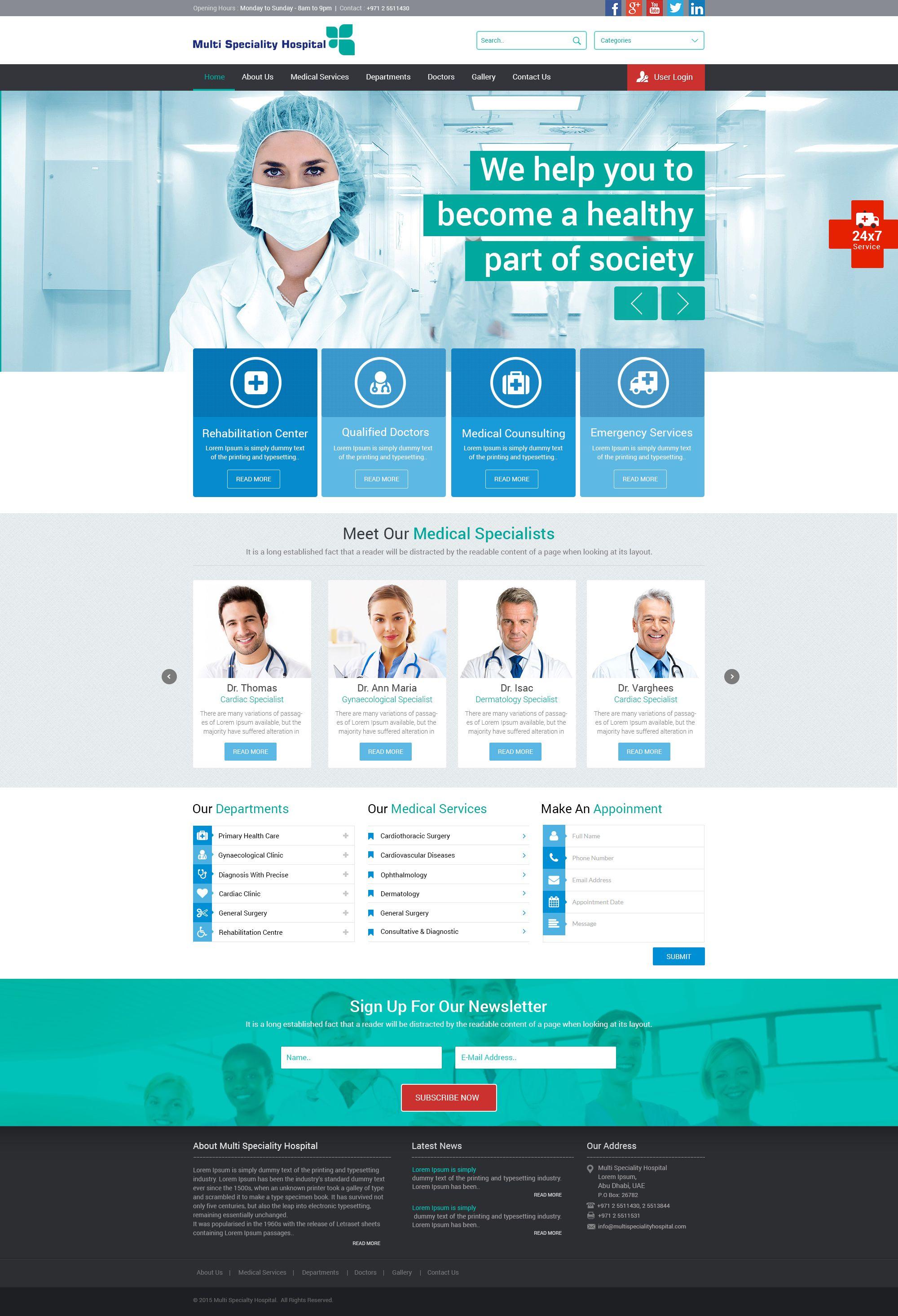 Its Hospital Website Design Hospital Website Web Development Design Corporate Website Templates