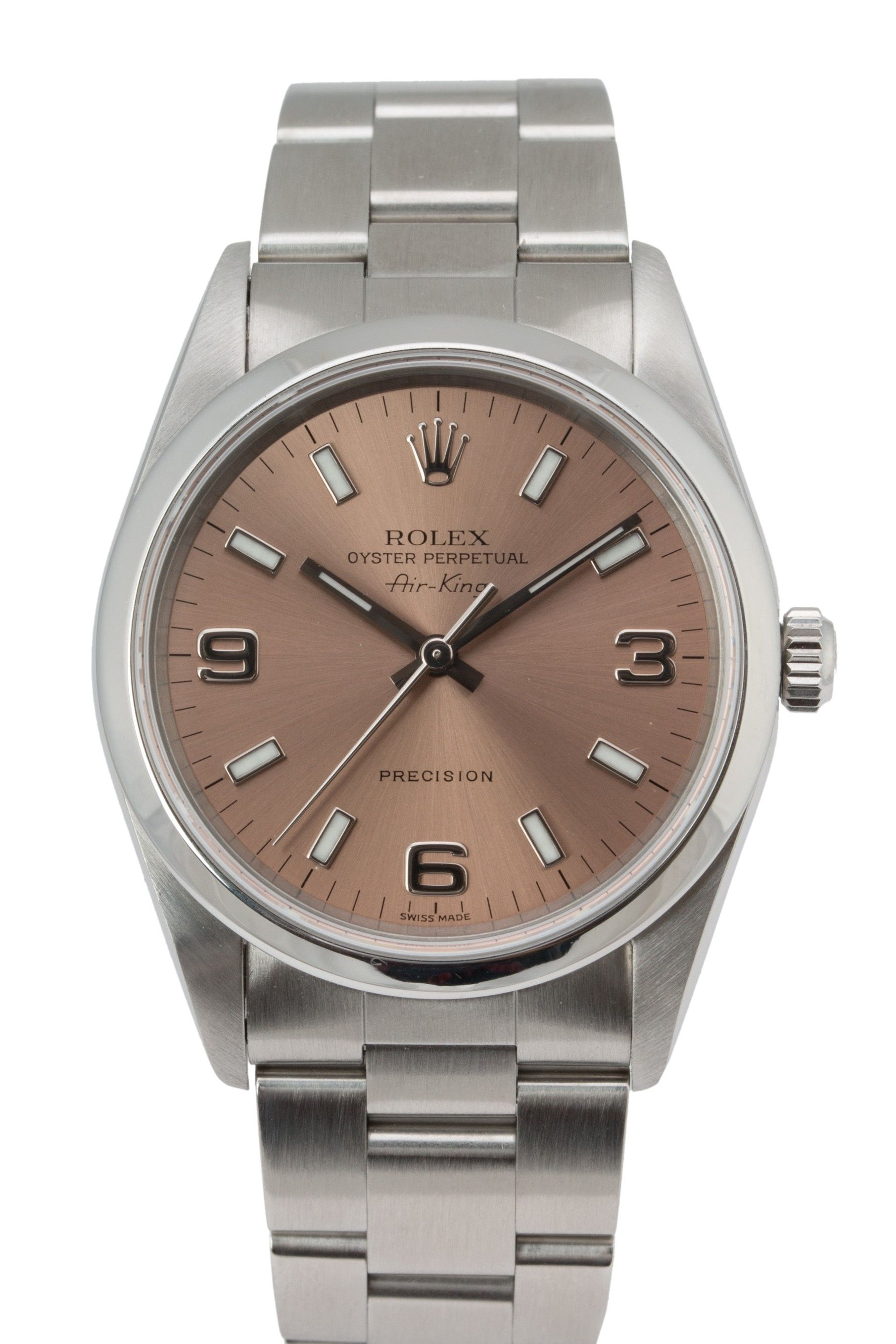 Rolex Stainless Steel Air King with Salmon Dial Rolex