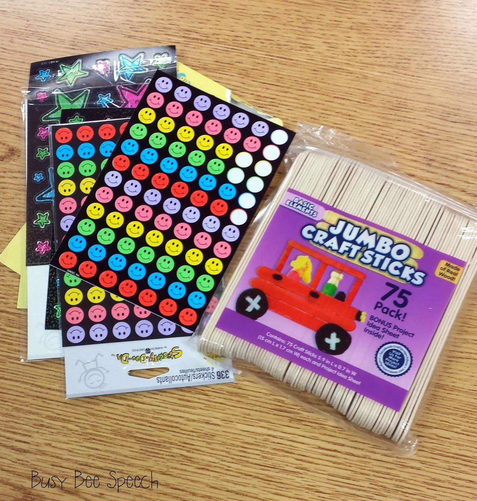 Busy Bee Speech Fluency Pacing With Popsicle Sticks