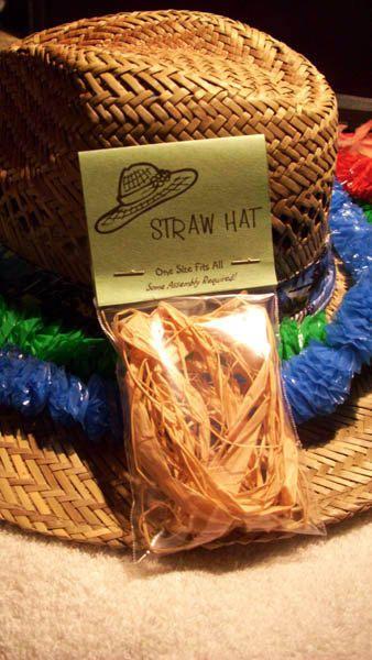 Straw Hat Kit Novelty Joke Gag Gift Gag Gifts Christmas White Elephant Gift Exchange Ideas Funny White Elephant Gifts