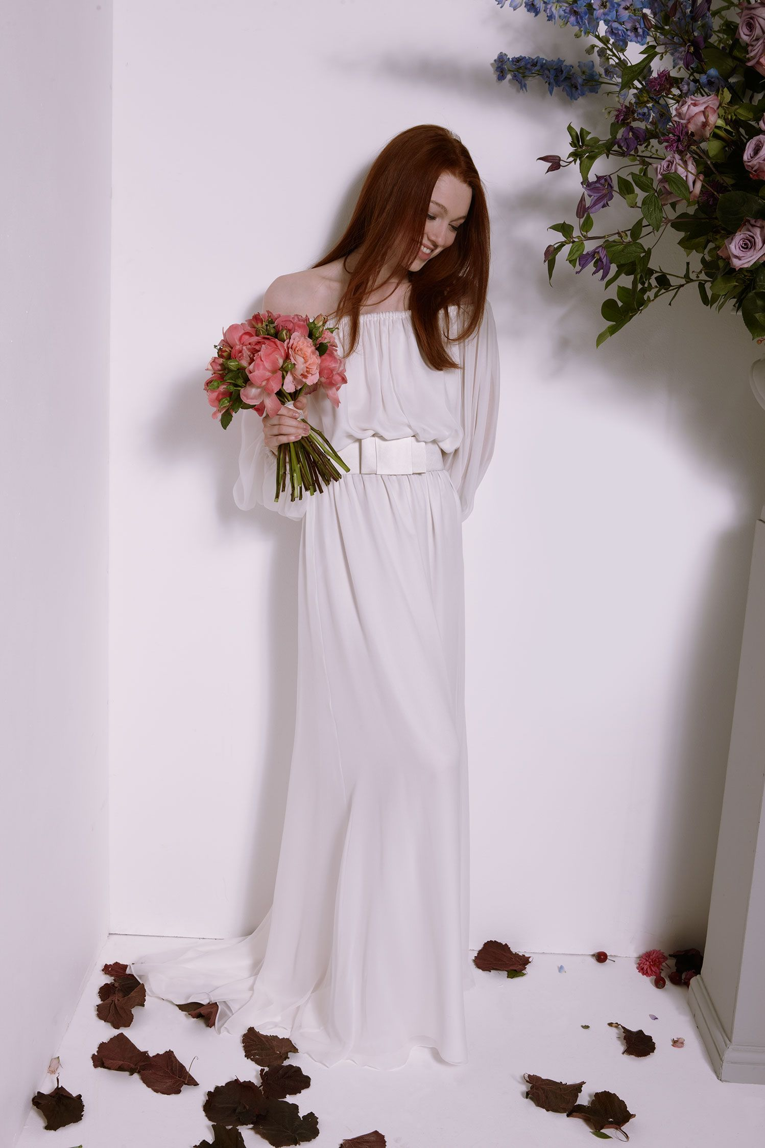 On a night like this silk georgette us style gown with bell