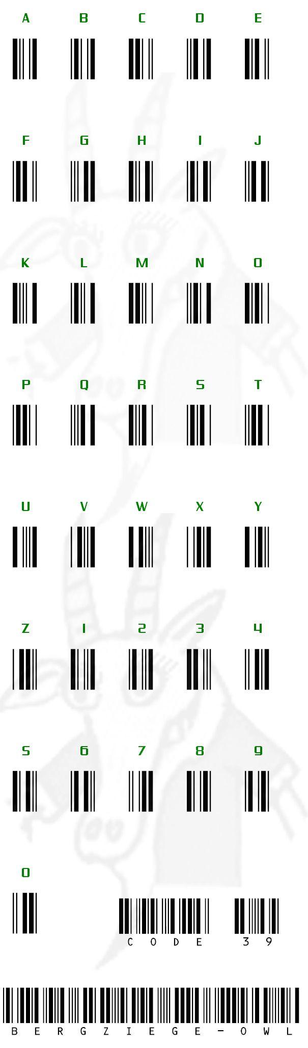 code39 mysteryhilfe Barcode | Geocaching Codetabellen | Pinterest ...