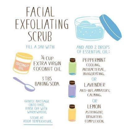 Facial Exfoliating Scrub Essential Oils For Face Homemade
