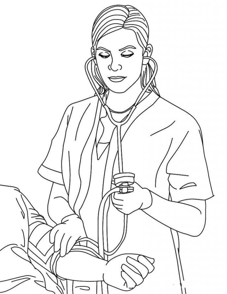 Nurse Coloring Pages Best Coloring Pages For Kids Nurse Drawing Coloring Pages Coloring Books