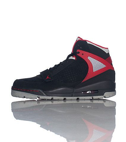 new product 2e13c 35871 JORDAN+High+top+men s+sneaker+Padded+tongue+with+JORDAN+jumpman+logo +Lace+closure+with+single+velcro+strap+near+toe+Black+shoe+with+blue+color +accents