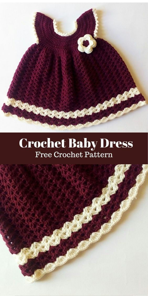 Little Princess Sara Crochet Baby Dress Free Pattern   Soukaina Collections - Free crochet patterns