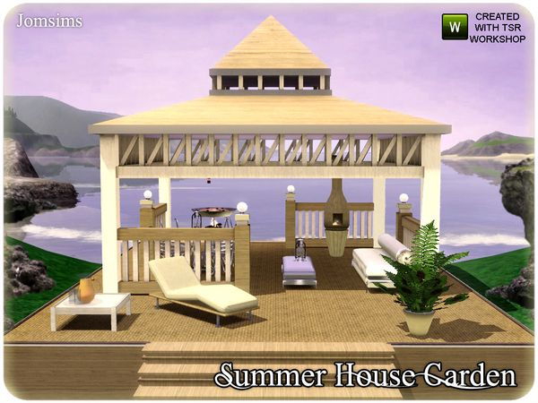 Summer House Garden by jomsims - Sims 3 Downloads CC Caboodle