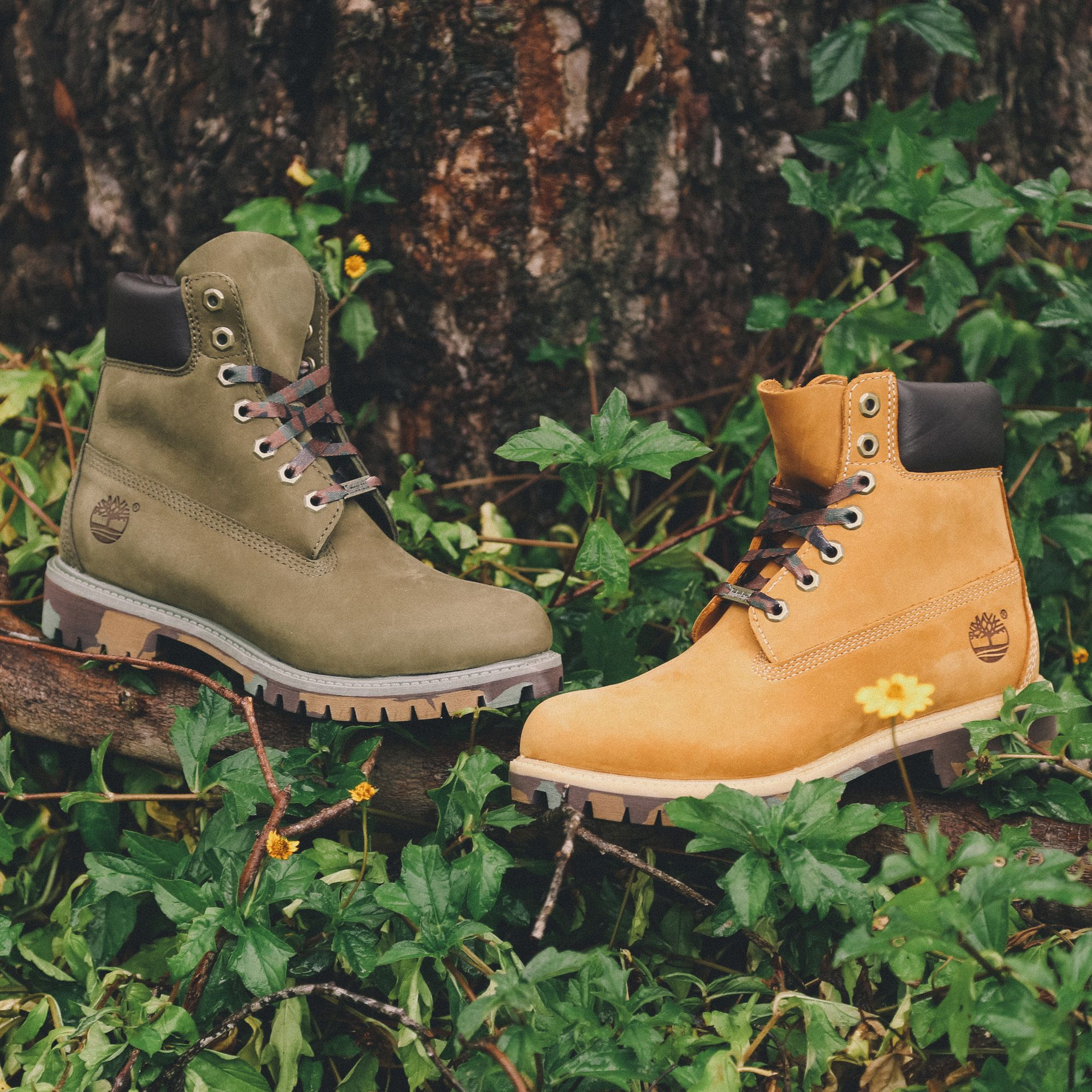 4b080031 Camo highlights on the classic Timberland 6Inch boots! Army Green or wheat?  #culturekings #Streetwear #fashion #timberland #boots #camo #army #winter