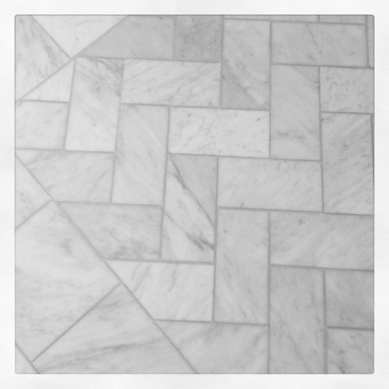 Love this tile pattern for the master bathroom floor for Subway tile patterns