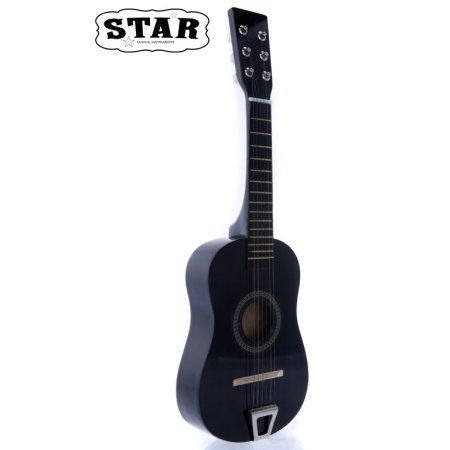 Star Kids Acoustic Toy Guitar 23 Inches Black Color