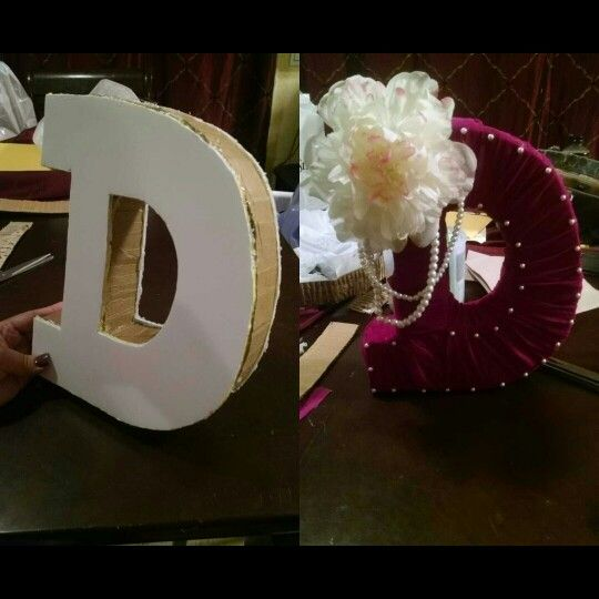 DIY Before and after letter decorating
