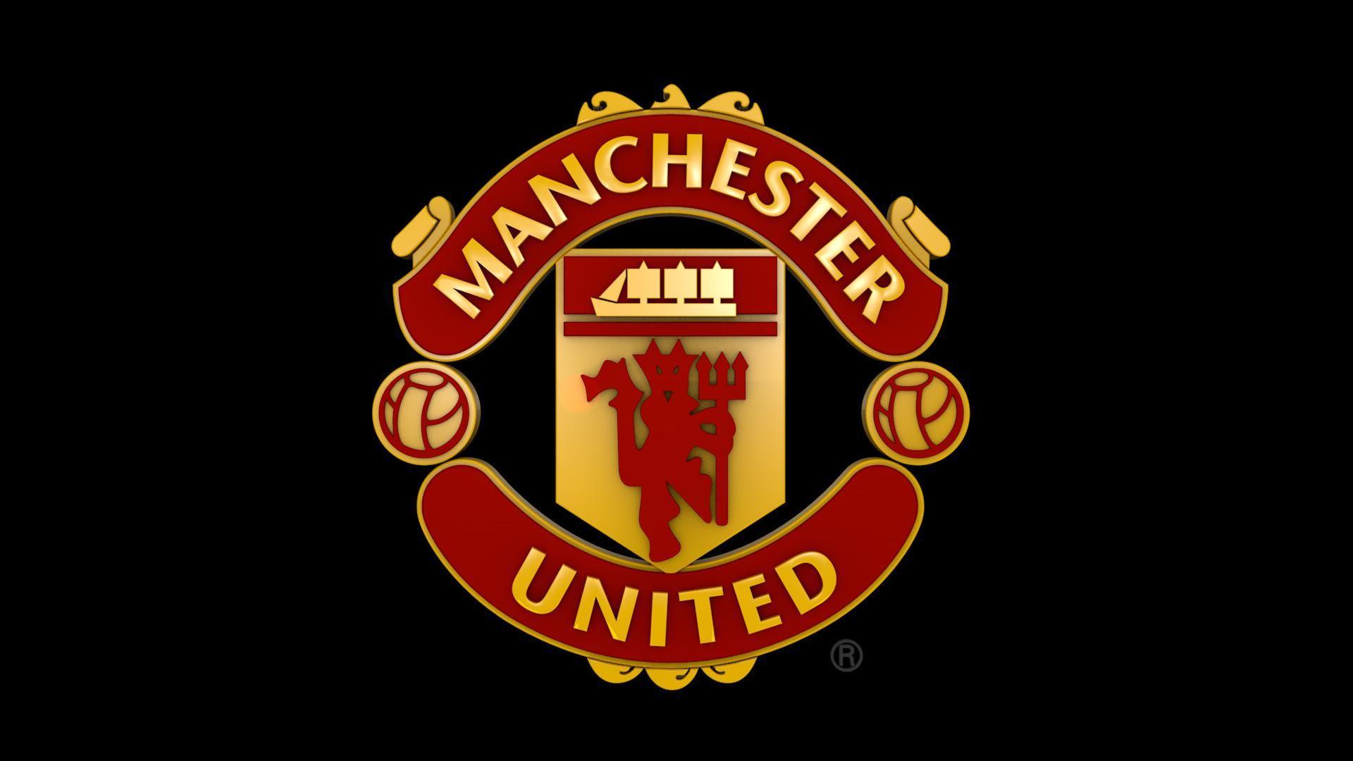 Manchester United Logo 3d Model Ad United Manchester Model Logo โลโก วอลเปเปอร