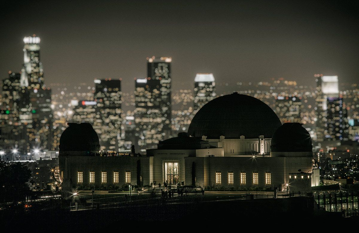 Griffith Park Observatory And La After Dark Night Vision Scott Night Vision Griffith Park Around The Worlds