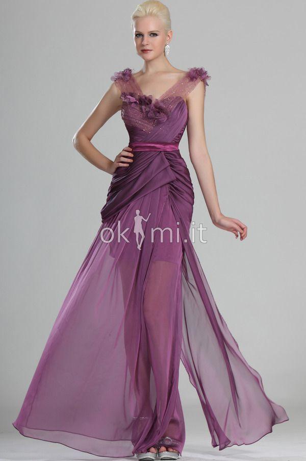 Photo of Evening dress / Party dress Brush Train Fancy Sheath Dress V -…
