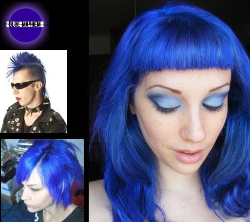 Blue Mayhem Semi Permanent Hair Dye By Special Effects Special