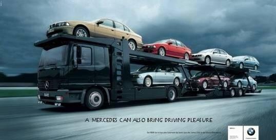Ook BMW heeft smaak voor pakkende reclamen!