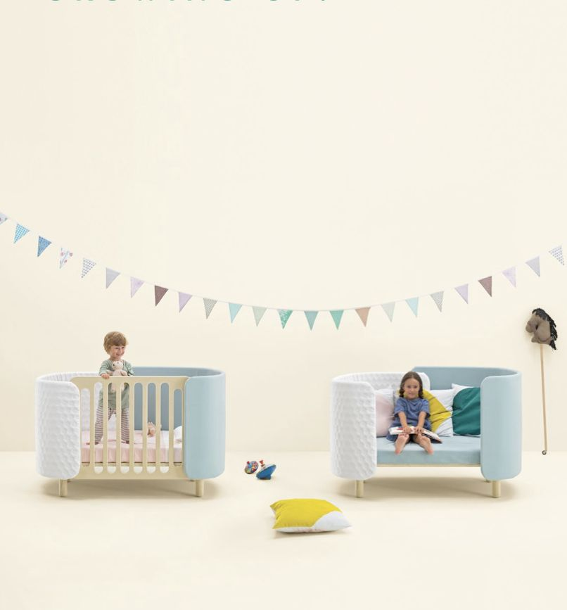 Dot and Cross just launched their new cot bed design, part of a new launch of kids bedroom furniture with adaptable use for growing children and teenagers.
